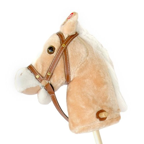 Pink Papaya hobby horse - stick horse - toy horse neighing/galloping sounds