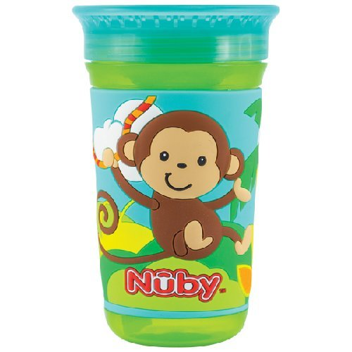 360 Maxi 3D Drinking Cup Green-Monkey