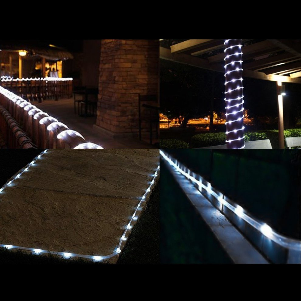 Le 50 Leds Rope Lights Battery Ed 5m Waterproof Outdoor Path Daylight White Led String