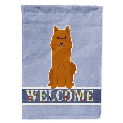Carolines Treasures BB5603CHF Karelian Bear Dog Welcome Flag Canvas House Size
