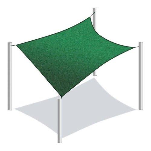 Aleko SS03REC10X6.5GR-UNB 10 x 6.5 ft. Rectangle Waterproof Sun Shade Sail Canopy Tent, Green