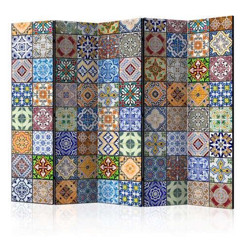 Large Room Divider - Colourful Mosaic | Moroccan Room Divider