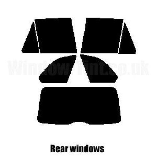 Pre cut window tint - BMW X5 (E53) - 2000 to 2006 - Rear windows