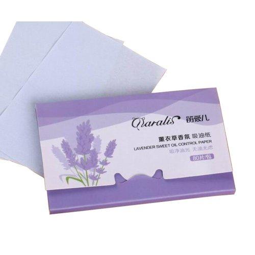 [Lavender] 3 Sets Unisex Facial Oil Blotting Papers Oil Control Papers