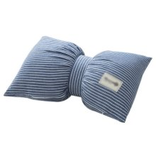 Multicolor Living Room Bedroom Sofa Bowknot Pillow, Light Blue Stripes
