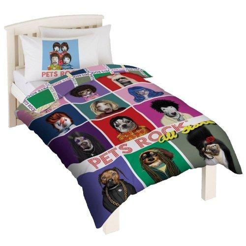 Pets Rock Childrens/Kids More Fun Than Fame Duvet Cover Bedding Set