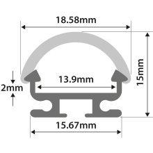 Aluminium LED Tape Profile - D Section