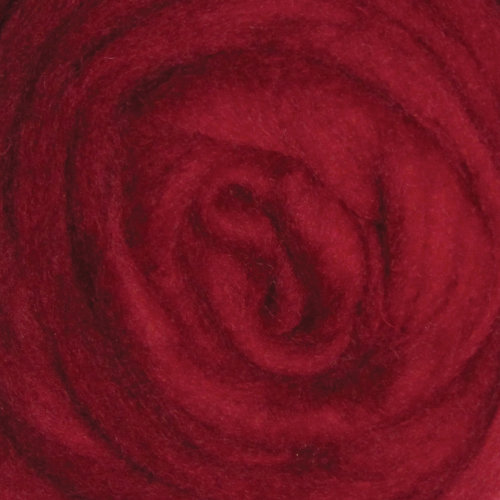"""Wistyria Editions Wool Roving 12"""" .22oz-Cherry Red"""