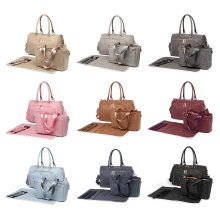 Miss Lulu 3pc PU Leather Baby Changing Bag Set