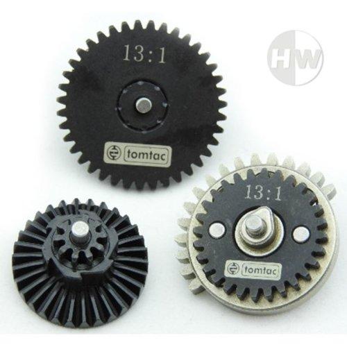 Airsoft High Speed 13:1 Gear Set M4 Ak47 V2 V3 High Density Steel Gearbox Cogs