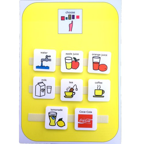 Visual Snack/Drink Choice Board AAC (Picture Communication Symbols)