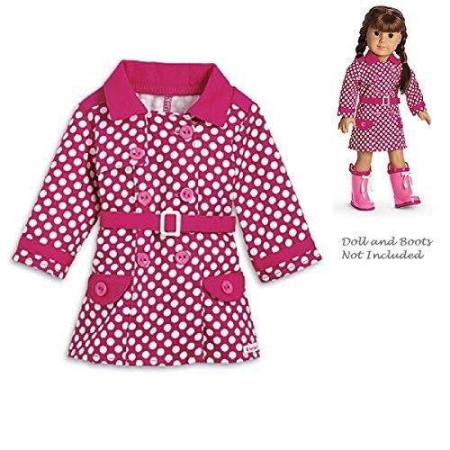 American Girl My AG 2014 Rainy Day Coat for Dolls + Charm