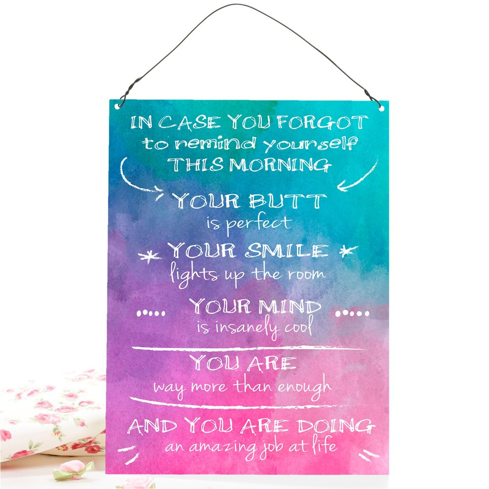 212de75512bba ... Dorothy Spring In Case You Forgot To Remind Yourself Funny  Inspirational Wall Quote Plaque Metal Sign ...
