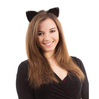 Bristol Novelty Adults Unisex Shiny Cat Ears