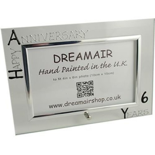 Personalised 6th Wedding Anniversary Photo Frame Iron Anniversary (landscape)