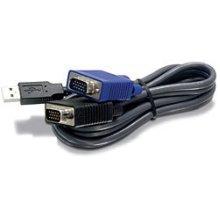Trendnet 1.8m USB/VGA 1.8m Black KVM cable