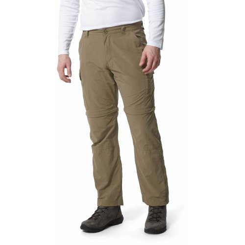 Craghoppers Mens  NosiLife Convertible Trousers Long Leg Pebble (38in)