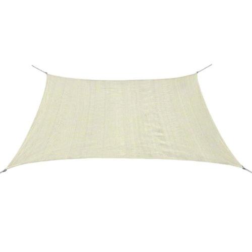 vidaXL Sunshade Sail HDPE Square 2x2 m Cream