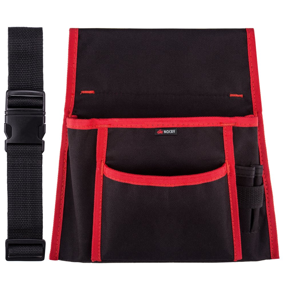 NoCry Professional Waist Work Apron with 2 Roomy Tool Pockets, 2 Bit  Holsters, a Hammer Loop and an Adjustable Nylon Belt, Made of Durable  600D
