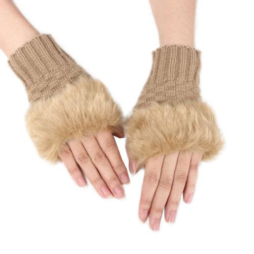Knit Fingerless Gloves/ Women Winter Warm Gloves/ Fashion Glove