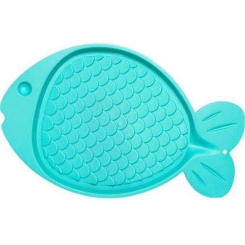 Bella Spill-Proof Fish Shaped Cat Mat - Green