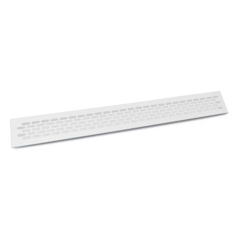 White Aluminium Vent Grill Kitchen Plinth / Worktop Heat  480 x 60 mm