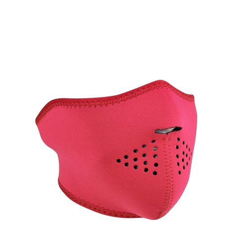 Half Face Women's Reversible Neoprene Ski Mask - Pink / Teal
