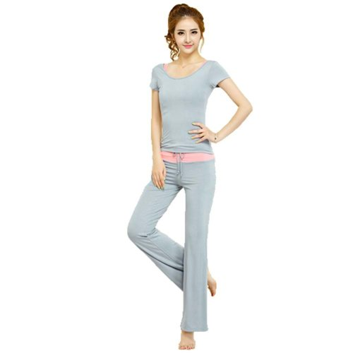 Womens Dance Clothes Yoga Wear Set 3 Pieces Fitness Gym Clothes Dance Outfit