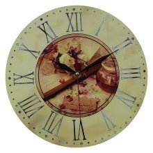 Obique Home Decoration Romantic Scene 28cm MDF Wall Clock