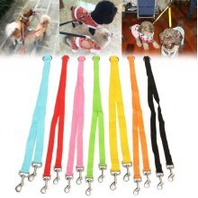 Polyester Duplex Double Dog Coupler Twin Lead 2 Way Two Pet Walking Leash Safety