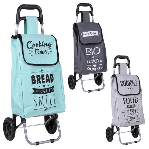 25 Litre 2 Wheel Fabric Shopping Trolley 3 Designs