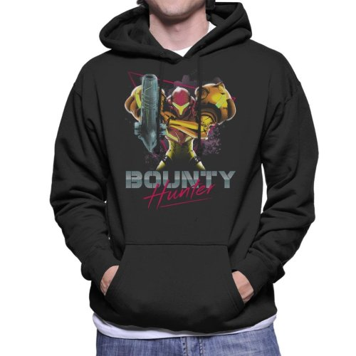 Classic Bounty Hunter Retro 80s Metroid Men's Hooded Sweatshirt