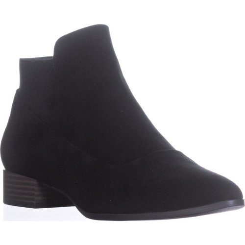 DKNY Trent Pointed-Toe Pull-On Boots, Black, 4.5 UK