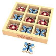 BeginAgain TicBugToe  Tic Tac Toe Travel Game for Kids of All Ages  Dragonflies & Ladybugs Will Delight in this Traveling Game