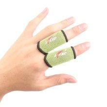 Set of 2 Sports Elastic Finger Sleeve Protector Brace Support Basketball - Green