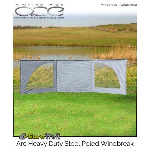 EuroTrail  Arc 5 metre Steel Poled Windscreen / Windbreak