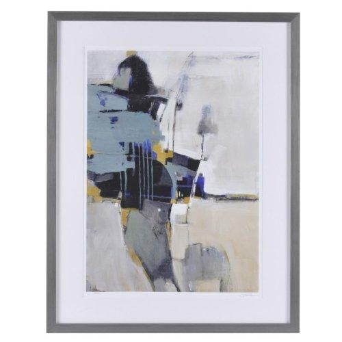 Fluidity II - Blue Mood Contemporary Framed Print