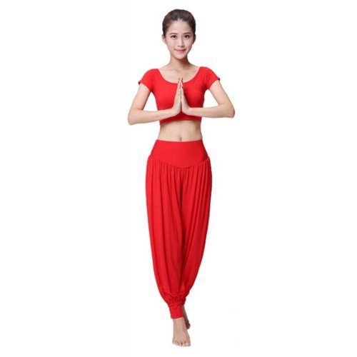 Best Yoga Apparel Sexy Yoga Red Pant Gym Clothes Dance Outfit Fitness Suit