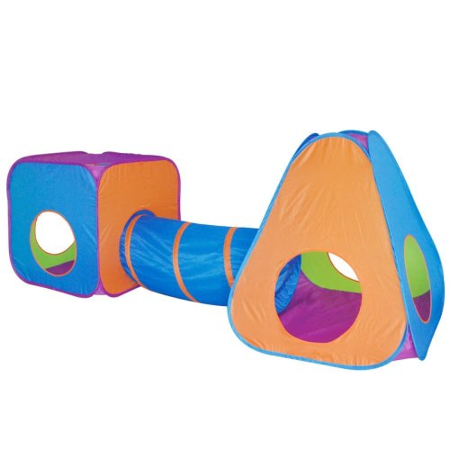 boppi® Childrens Pop-Up Cube & Pyramid Tent Activity Tunnel Playset