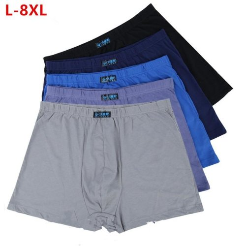 5pcs/set Large loose 8XL male cotton Underwears Boxers high waist breathable fat belts Big yards men\'s underwear plus size