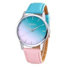 Geneva Blue & Pink Gradient Fashion Watch