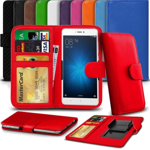 """iTronixs - Archos 55 Helium (5.5"""") High Quality Clamp Style PU Leather Wallet Case Cover"""