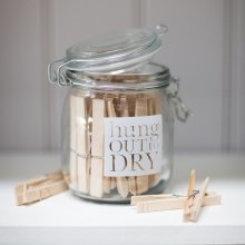 Hung Out to Dry Peg Jar