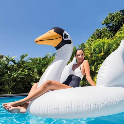Intex 56287 Mega Swan Large Inflatable Ride On