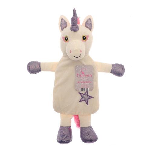 Country Club Unicorn Hot Water Bottle, Purple