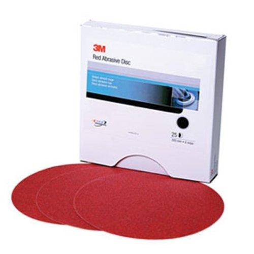 3M 1115 P100A Red Abrasive Stikit Disc, 6 In. P100, 100 Discs Per Roll