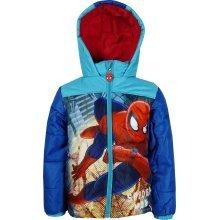 Boys HQ1422 Marvel Spiderman Winter Hooded Jacket 3-8 Years
