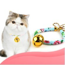 Japan icat Wind and Wealth  Pet Cat Puppy Dog Collar Bell Bow Neck Lead Strap Leash Traction Rope