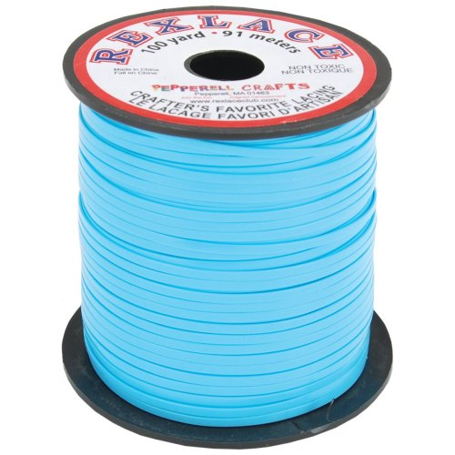 """Rexlace Plastic Lacing .0938""""X100yd-Baby Blue"""