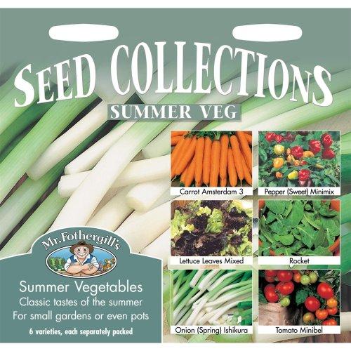 Mr Fothergills - Pictorial Packet - Summer Veg Collection  6 Varieties Seeds
